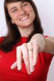I am engaged — Stock Photo