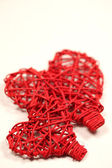 Wicker hearts — Stock Photo