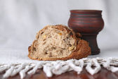 Pão e vinho — Foto Stock