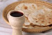 Vinho e pão — Foto Stock