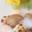Brown Easter eggs — Stock Photo