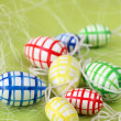 Chequered Easter eggs — Stock Photo