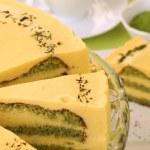 Matcha green tea cake — Stock Photo #7446650