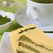 Matcha green tea cake — Stock Photo #7446764