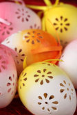 Flowery Easter eggs — Stock Photo