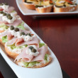 Ham and cheese appetizers — Stock Photo #7459754