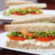 Vegetarian sandwiches — Stock Photo