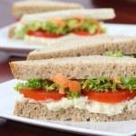 Vegetarian sandwiches — Stock Photo