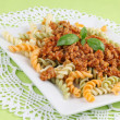 Stock Photo: Fusilli bolognese