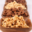Honey and chocolate cereals — Stock Photo