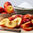 Halved nectarines — Stock Photo #7463265