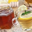 Stock Photo: Tewith honey and lemon