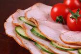 Charcuterie et légumes — Photo