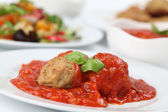 Meatballs with tomato sauce — Stockfoto