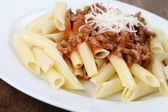 Penne bolognese — Stock Photo