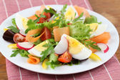 Salad with eggs — Stock Photo