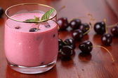 Cherry milkshake — Stock Photo