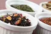 Tea collection - flavored black tea — Stock Photo