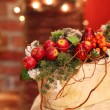 Stock Photo: Christmas still life with red berries