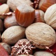 Nut background — Stock Photo