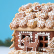 Christmas gingerbread house — Stock Photo #7777166