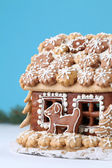 Christmas gingerbread house — Stock Photo