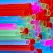 Royalty-Free Stock Photo: Closeup of group colorful straws