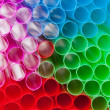 Royalty-Free Stock Photo: Colorful straws with the bright light shining through them