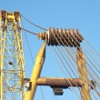 Detail of the arm of a big jib crane - Stock Photo