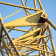 Tubular frame of the arm of a big jib crane — Stock Photo