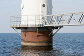 Foundation of a big windmill standing in the Dutch sea — Stock Photo