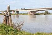 Concrete bridge crossing the river IJssel, the Netherlands — Stock Photo