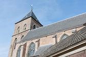 老天主教教会在 kampen,荷兰中世纪城市 — 图库照片