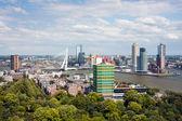 在荷兰鹿特丹港的鸟瞰图 — 图库照片