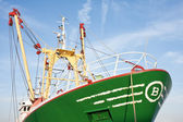 Profile of a big Dutch iron fishing cutter — Stock Photo