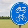 Traffic sign in rural landscape — Stock Photo #7517859