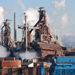 Steel factory with smokestacks — Stock Photo #7518707
