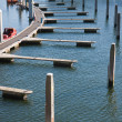 Floating jetty in Dutch harbor — Stock Photo