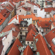 Aerial view of city of Prague, Capital city of the Czech Republi — ストック写真