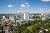 Erasmus üniversitesi hastanesi, rotterdam, havadan görünümü — Stok fotoğraf