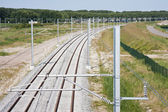 New railway in the netherlands — Stock Photo