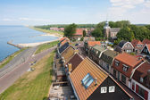 Seafront of a Dutch fishing village seen from the Lighthouse — Stock Photo