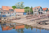 Old shipyard in Urk, a fishing village in the Netherlands — Stock Photo