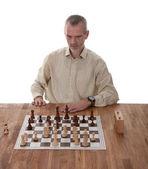 Schackspelare isolerad på vit — Stockfoto