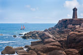 Rocky coast of Brittany, France — Stock Photo