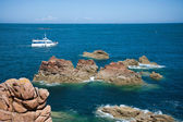 Rocky coast of Brittany, France — Foto Stock