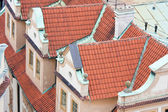 Aerial view of roofs in Praha, Czech Republic — Stock Photo