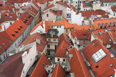 Aerial view of city of Prague, Capital city of the Czech Republi — Stock Photo