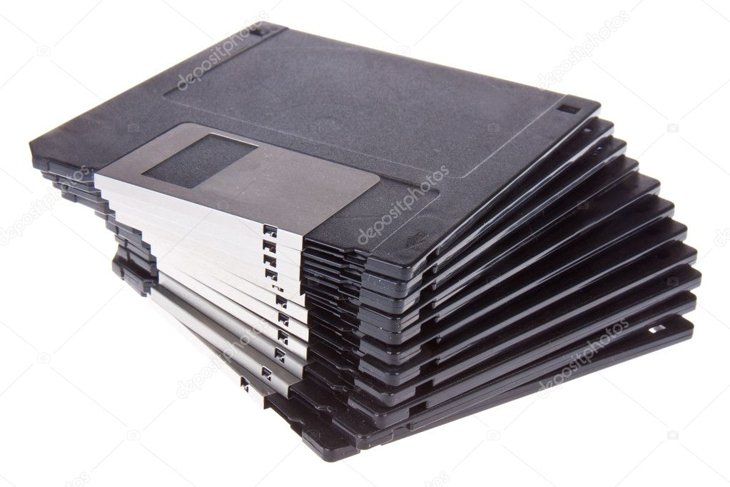 Pile of 3.5 inch computer diskettes — Stock Photo #7518072