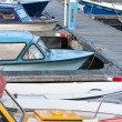 Small motorboats in Dutch harbor — Stock Photo #7547550